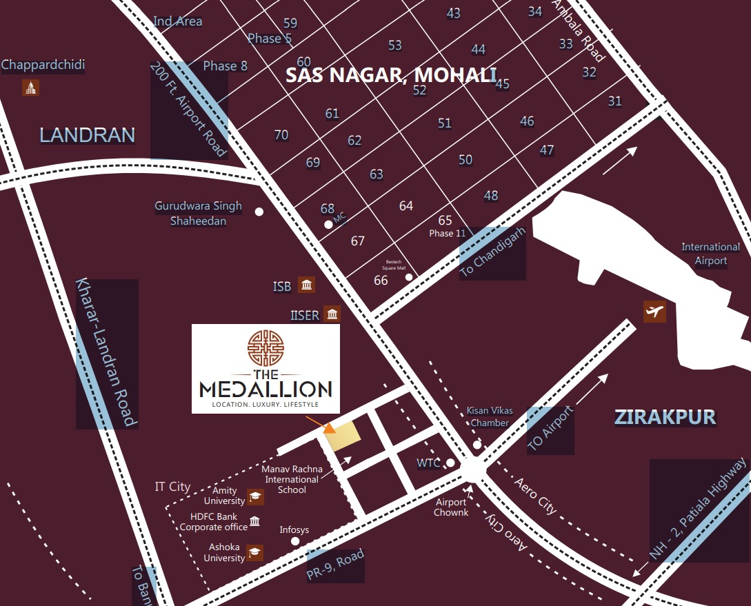 the medallion mohali location